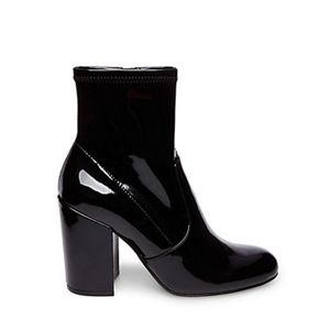 Steve Madden Gaze Patent Leather Ankle Boots